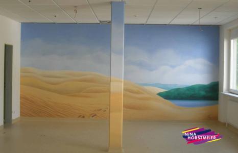 Malerei, Wandbild, Wandmalerei, Illusionsmalerei