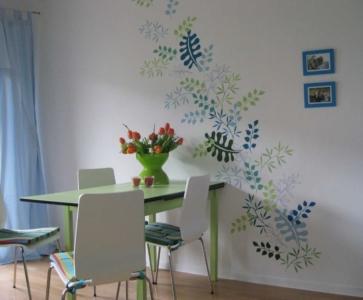 Schablonentechnik, Wandbild, Wandmalerei, Illusionsmalerei