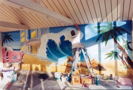 Florida, Wandbild, Wandmalerei, Illusionsmalerei