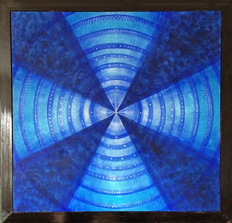 Ahnenkreis, Familienaufstellung, Zeitreise, painting, Spirit, kosmisch, for sale